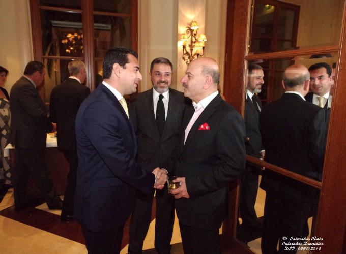 Ο κ. Λ. Τσιλίδης, Πρόεδρος της FEDHATTA με τον κ. N.Κελαϊδίτη, Αν. Γ.Γ.FEDHATTA , υποδέχoνται τον κ. Κώστα Σκρέκα, Βουλευτή ΝΔ