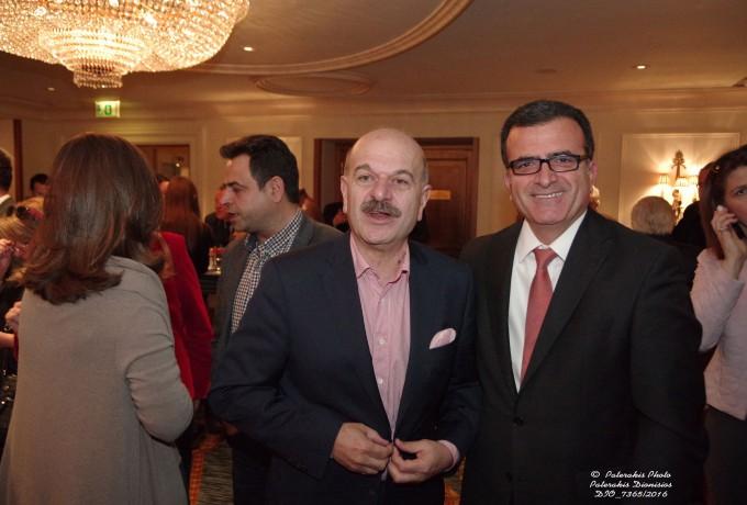 O κ. Λ. Τσιλίδης με τον κ. Γ. Παναγιωτίδη της Superfast Ferries