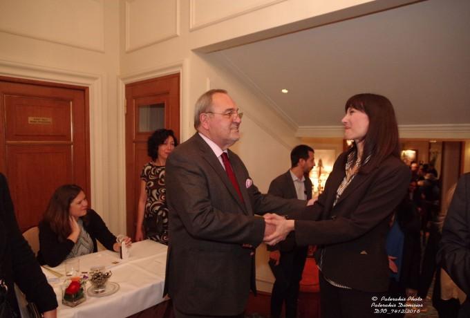 Ο Γενικός Γραμματέας FEDHATTA, κ. Σ. Σκρέτας, με την Αν. Υπουργό Τουρισμού κα. Ελ. Κουντουρά