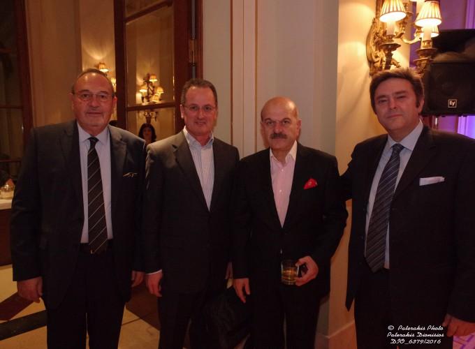 Ο κ. Στάθης Σκρέτας, Γεν. Γραμμ. FEDHATTA, ο κ. Σπύρος Κτενάς, Time Tv, ο κ. Λ. Τσιλίδης, Πρόεδρος FEDHATTA και ο κ. Γ. Παλιούρας, Μέλος ΔΣ ΗΑΤΤΑ
