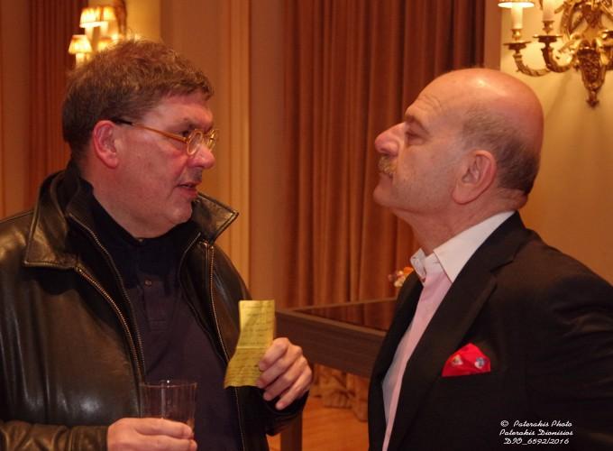 Ο κ. Θανάσης Λάλας με τον κ. Λ. Τσιλίδη