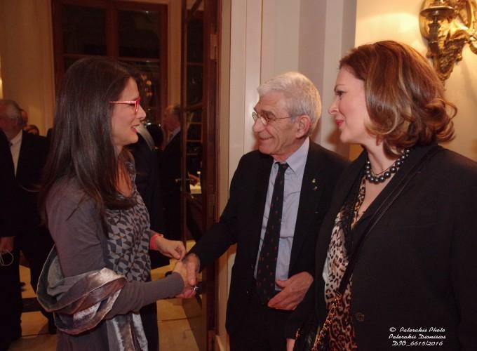 Η κα Μ. Θεοφανοπούλου, ο κ. Γ. Μπουτάρης και η κα Δ. Αμαραντίδου