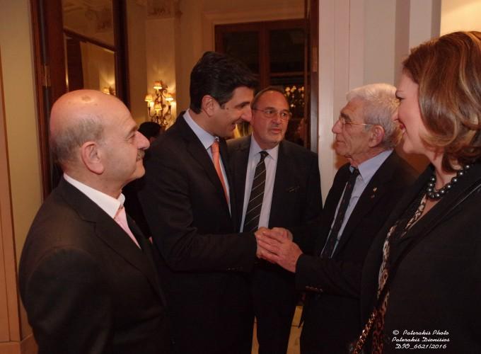 Ο κ. Λ. Τσιλίδης, ο κ. Δ. Τρυφωνόπουλος, ο κ. Στ. Σκρέτας, ο κ. Γ. Μπουτάρης και η κα Δ. Αμαραντίδου