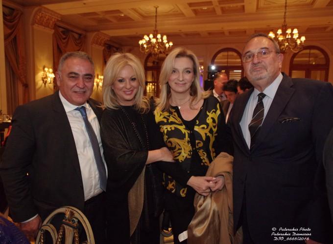 Ο κ. Ιωάννης Χατζηθεοδοσίου, Πρόεδρος Επαγγ. Επιμελ. Αθηνών, η κα Σοφία Λαμπάκη, Εκδότρια, η κα Αγγελική Χονδροματίδου, Δ/ντρια Γραφείου Υπ. Τουρισμού, και ο κ. Στ. Σκρέτας