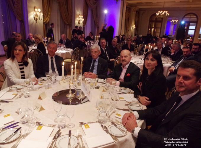 Η κα Ρούλα Σαλούτση, Διευθύντρια Δημοσίων Σχέσεων και Τύπου Aegean Airlines, ο κ. Ανδρέας Ανδρεάδης, Πρόεδρος ΣΕΤΕ, ο κ. Γιάννης Μπουτάρης, Δήμαρχος Θεσσαλονίκης, ο κ. Λύσανδρος Τσιλίδης, Πρόεδρος της FEDHATTA , η κα Έλενα Κουντουρά, Αν. Υπ. Τουρισμού, και ο Μιχάλης Μαυρόπουλος, Δ/νων Σύμβουλος της TUI
