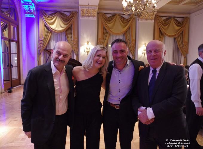 Ο κ. Λ. Τσιλίδης, η κα Χρ. Μπεζαντάκου, ο κ. Σπύρος Μαντζαβινάτος, ο κ. Ν. Βερνίκος