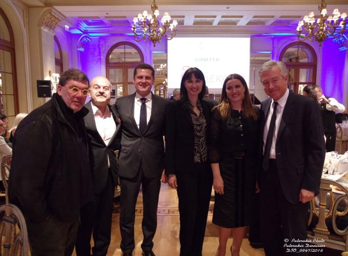 Ο κ. Θανάσης Λάλας, ο κ. Λύσανδρος Τσιλίδης, Πρόεδρος FEDHATTA,  ο Μιχάλης Μαυρόπουλος, Δ/νων Σύμβουλος της TUI, η κα Έλενα Κουντουρά,  Αν. Υπ. Τουρισμού , η κα Άννα Δρούζα και ο κ. Ανδρέας Ανδρεάδης, Πρόεδρος ΣΕΤΕ
