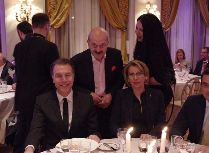Ο κ. Σ. Πολύζος, ο κ. Λ. Τσιλίδης και η κα Τζ. Λιάγκα
