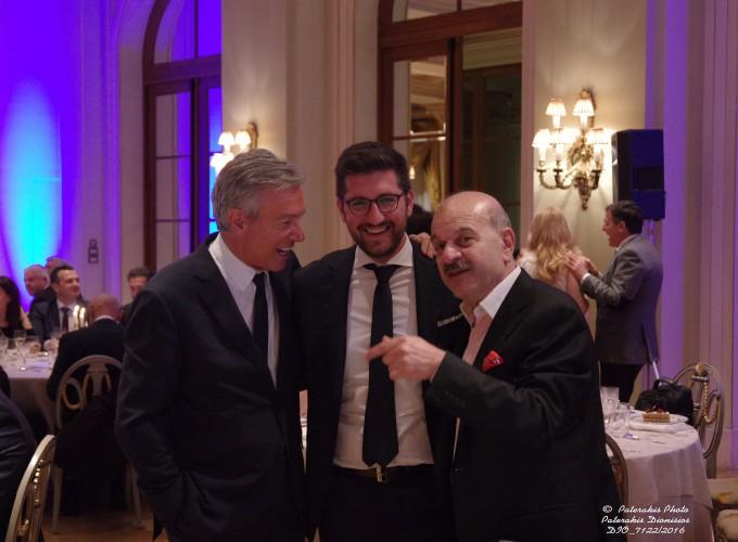 Ο κ. Α. Ανδρεάδης, ο κ. Μ. Μποκέας και ο κ. Λ. Τσιλίδης